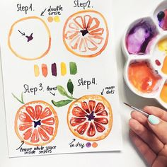 40 Juicy Citrus Bullet Journal Theme Ideas My inner creative - Cool Crafts Watercolor Drawing, Painting & Drawing, Easy Watercolor, Fruit Sketch, Bullet Journal Themes, Watercolour Tutorials, Watercolor Beginner, Watercolor Techniques, Art Tutorials