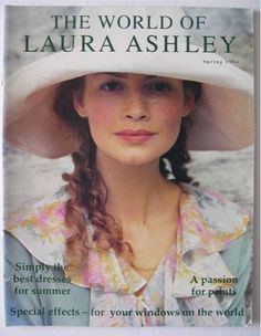 Laura Ashley. My bedroom was decorated with Laura Ashley fabric in coffee, cream and apricot.