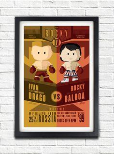 Rocky 4  Rocky vs Ivan Drago  17x11 Poster by bensmind on Etsy, $19.99