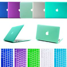 """Transparent Rubberized Anti Glare Hard Cover Case +Silicone  Keyborad Cover skin For MacBook Air 13.3"""" Freeshipping-in Laptop Bags & Cases f..."""