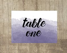 Ombre Table Number www.etsy.com/uk/shop/PippinPrints