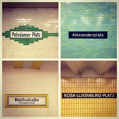 U-bahn. Instagram photo by @Melanie Bauer De Vrieze