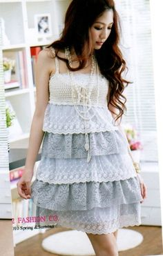 LOVE LOVE LOVE this dress!!! Summer Fresh Tiered Dress Grey $5.14