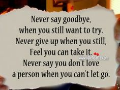 Never Give Up When You Still Feel You Can Take It.