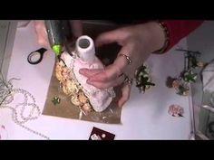 Shabby Chic Altered Bottle part 3 - YouTube