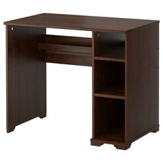 BORGSJÖ Desk - brown - IKEA - Up against the wall/bed - for printer, laptop, files