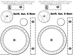 Model of Earth & Moon's orbit Space: Model of Earth & Moon's orbit - More Time 2 Teach - Space: Model of Earth & Moon's orbit - More Time 2 Teach - First Grade Science, Kindergarten Science, Science Classroom, Teaching Science, Science Education, Moon Activities, Space Activities, Science Activities, Earth And Space Science