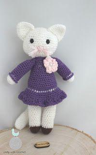 Lady with crochet: Kotka w fioletowej sukience / Crochet kitty