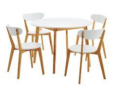 Pöytä JEGIND Ø105cm + 4 tuolia JEGIND   JYSK