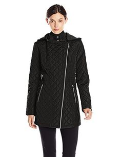 Jessica Simpson Women's Asymmetrical Zip Quilted Jacket with Hood, Black, X-Small Jessica Simpson http://www.amazon.com/dp/B00VRKN9C8/ref=cm_sw_r_pi_dp_2mg.vb12SAKCH