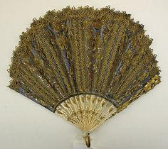 Fan Date: ca. 1850 Culture: European Medium: ivory, silk