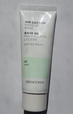 [REVIEW] The Face Shop Air Cotton Makeup Base SPF30 PA++ 01 Mint