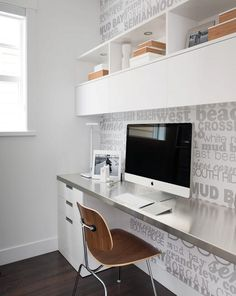 Portico Design Group - great little space saving office design.