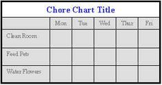 Printable custom chore charts for kids, very cute!