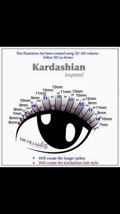 Image result for lash maps for kim kardashian