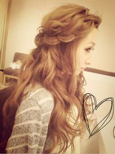 Gyaru | Hair | Braids | Big messy hair