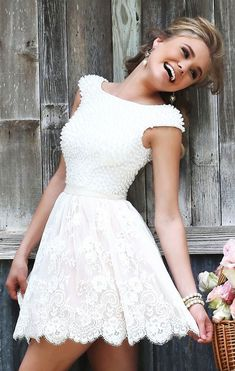 White Lace Prom Dresses, Prom Dresses Lace, Homecoming Dress With Appliques, Homecoming Dress Short, Homecoming Dress White Homecoming Dresses 2018 White Homecoming Dresses, Cheap Prom Dresses, Short Dresses, Bridesmaid Dresses, Dress Prom, Dance Dresses, Ball Dresses, Party Dresses, Formal Dresses