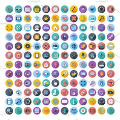 121 Social media and network icons. by Oleksii on @creativemarket