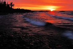 Split Rock Photograph - Superior Sunrise 2 by Larry Ricker