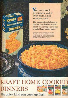 Kraft Mac and Cheese 1970s | Vintage Food Ads!!