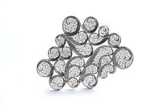 Cloud Brooch. Sterling Silver Cloud. by SusanaTeixeiraJewels