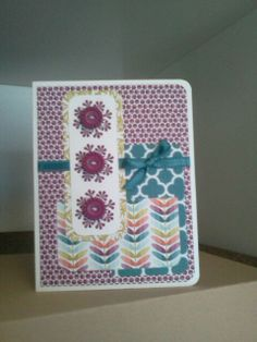 Another card made with Sycamore Street paper from Stampin' Up