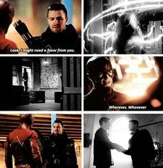 Oliver & Barry *brotp feels* #Arrow #TheFlash #Flarrow