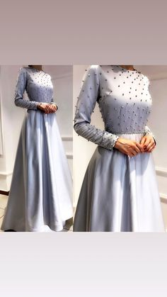 📲WhatsApp Worldwide shipping 🌍 Pre booking only other after complete work order shipping charges must be charged # maxidress Muslim Prom Dress, Hijab Prom Dress, Hijab Evening Dress, Hijab Style Dress, Grey Prom Dress, Dress Outfits, Modest Fashion Hijab, Muslim Fashion, Fashion Dresses