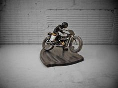 Flat Out Harley Flat Tracker Metal Sculpture by BrownDogWelding, $320.00