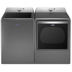 The Maytag Metallic Slate 5.3 Cu. Ft. Top Load Washer and 8.8 Cu. Ft. Top Load Electric Dryer helps make the chore list a quick and easy task with fresh clean clothes in half the time. With a large enough washer to clean multiple loads and dryers that keep your items damage free Maytag has the power and the efficiency you need.