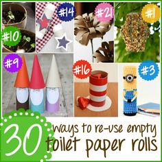 30 Great Ways to Re-Use Empty Toilet Paper Tubes  |  Happy Hour Projects
