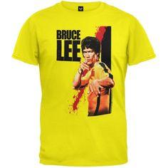 Bruce Lee - Mens Blood T-shirt Small Yellow Bruce Lee http://www.amazon.co.uk/dp/B005DFUV8S/ref=cm_sw_r_pi_dp_235wvb1EN1X93