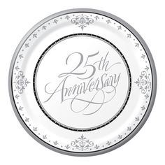 25th wedding anniversary Poems  sc 1 st  Pinterest & Ruby 40th Anniversary Paper Dinner Plates | Shops Paper and 40th ...