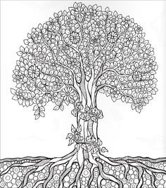 adult coloring pages tree art dream catchers bunt colouring newspaper print coloring pages draw mandalas - Coloring Pages Of A Tree