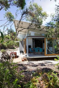 On the move: Stunning Supashak is designed to be modular and transportable designed by Brent Dowsett of Architects, Australia Shed Homes, Kit Homes, Beach Shack, Modular Homes, Eco Friendly House, My House, Architecture Design, House Styles, Parenting Plan