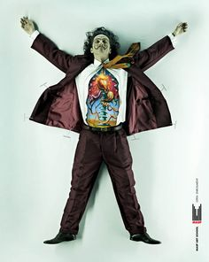 "Dalí dissected!  (This photo series of famous artists ""dissected"" to reveal the art within them is an ad campaign by DDB Brazil for the MASP art school in Brazil.)"