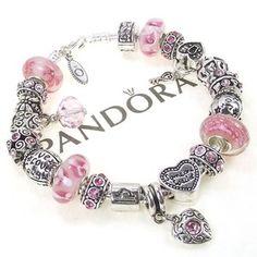 would love a Pandora bracelet some daylight pink pandora bracelet with  charm