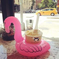 Cute Inflatable Flamingo Drink Can Cell Phone Holder Floating Swimming Stand Pool Bathing Beach Event Party Kids Toy Bath Toy