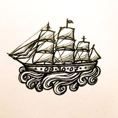 A calm ocean never made a skilled sailor. ship_tattoo_by_aubreespassions-d4cer9d_large.jpg (500×503)