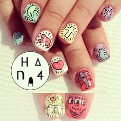 Keith Haring Nail