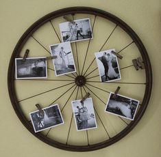 Have you ever wondered about what you can do with old bicycle wheels? Today, we would like to share with you some amazing ideas to transform your old bicycle wheels into something useful and decorative for your home and garden. Bicycle Decor, Old Bicycle, Bicycle Art, Old Bikes, Bicycle Tires, Deco Originale, Diy Recycle, Photo Displays, Display Photos
