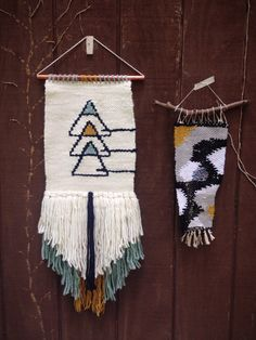 Woven Wall Hanging // Weaving // Abstract by IslandFordWeaving