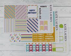 Birthday Weekly Planner Sticker Kit for Erin Condren Birthday Kit Birthday Weekly Kit Planner Stickers