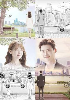 Lee Jong Suk and Han Hyo Joo are Illustrated and Three Dimensional Characters Meeting in W: Two Worlds Drama Korea, W Korean Drama, Kdrama W, Best Kdrama, W Two Worlds Art, Between Two Worlds, W Two Worlds Wallpaper, World Wallpaper, Kpop