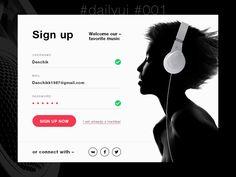 #dailyui #001 by Damir Daminov