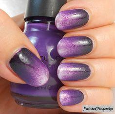 Painted Fingertips | Purple gradient nails
