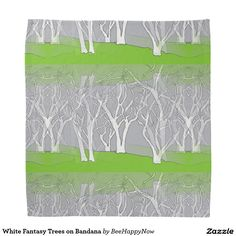White Fantasy Trees on Bandana