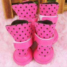 [Visit to Buy] anti-slip winter warm Dog boots waterproof Elastic Dot pet cat Shoes for Small dogs Teddy Puppy New soft bottom Dog Snow Boots, Snow Dogs, Warm Boots, Puppy Shoes, Cat Shoes, Small Puppies, Small Dogs, Dog Booties, Dog Accessories