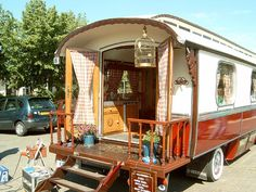 This looks like a modern take on the gypsy wagon but still way cool!