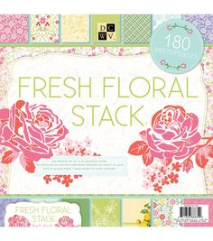 American Crafts 8 x 8 Inch Basics /& Brights 180 Sheets Die Cuts with a View Stacks